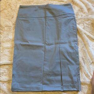 Slate Blue Banana Republic Pencil Skirt